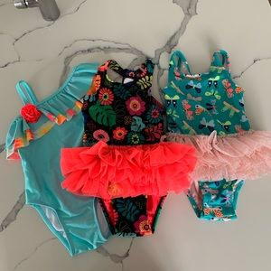 Toddler Girl's Bathing Suit Bundle — 2T